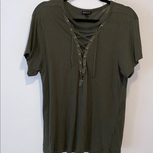 Sexy tie front top size L
